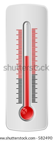 thermometer - vector web icon - stock vector