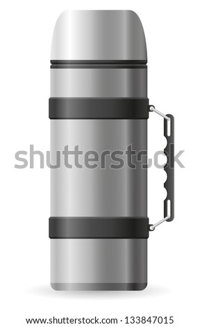 thermos vector illustration isolated on white background - stock vector
