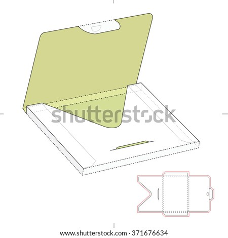 Thick Envelope Package Die Cut Template Stock Vector (Royalty Free ...