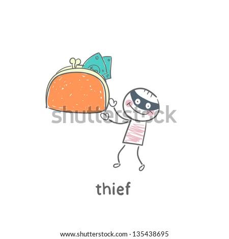 Thief - stock vector
