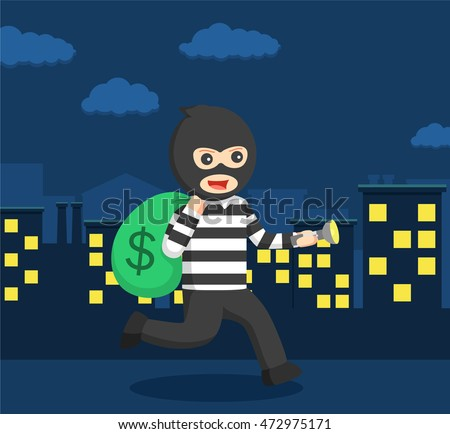 thief action at mid night
