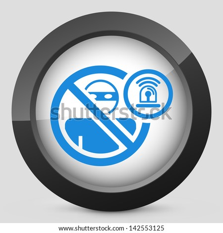Thief alarm icon - stock vector
