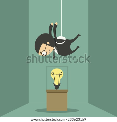 Thieves steal ideas, business idea - stock vector