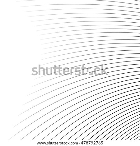 Thin dynamic curved lines monochrome geometric pattern