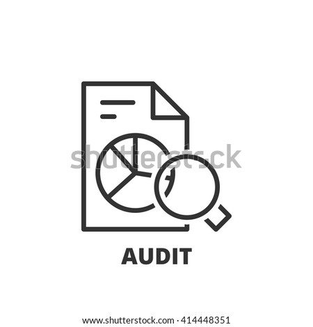 Thin line icon. Flat symbol about business. Audit - stock vector