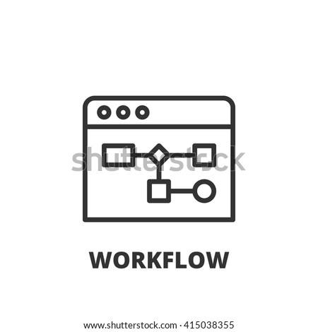 Thin line icon. Flat symbol about business. workflow - stock vector