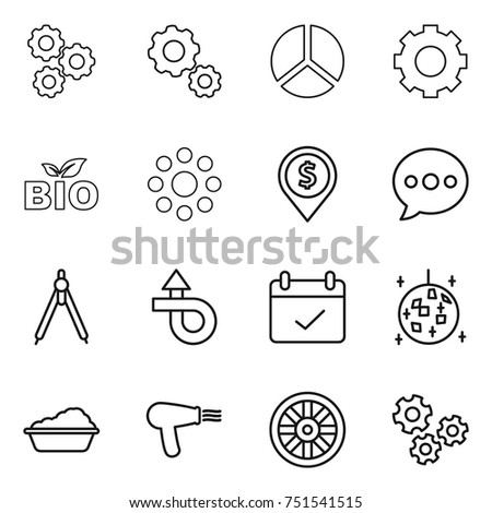 photo editor tool vector line icons stock vector 666730204
