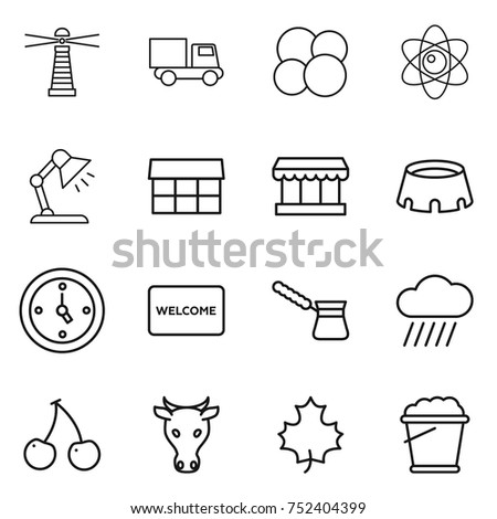 Table mat isolated stock vectors images vector art shutterstock thin line icon set lighthouse truck atom core table lamp market ccuart Choice Image