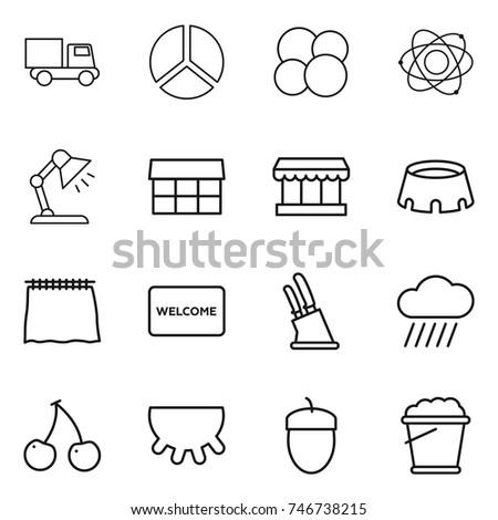 Table mat isolated stock vectors images vector art shutterstock thin line icon set truck diagram atom core table lamp market ccuart Choice Image
