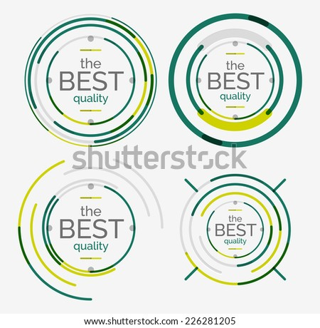Thin line neat design logo set, clean modern concept, premium quality stamp - stock vector