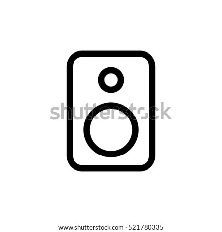 Black Line Photo Camera Background Vector 436935682