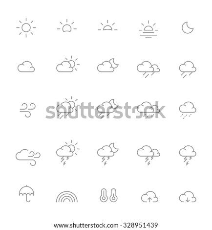 Thin Weather Icons