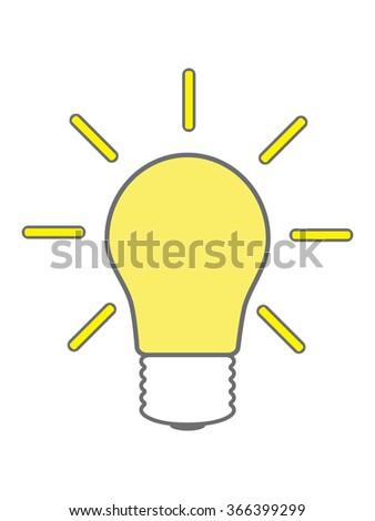 think bulb idea light icon  - stock vector