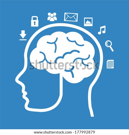 think design over blue background vector illustration - stock vector