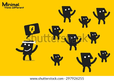 think different business concept - stock vector