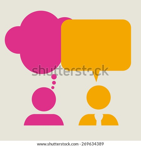 Think different design over  background, vector illustration