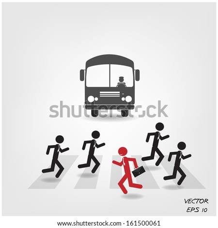 Think different, stand out from crowd,make a different.vector illustration eps10 - stock vector