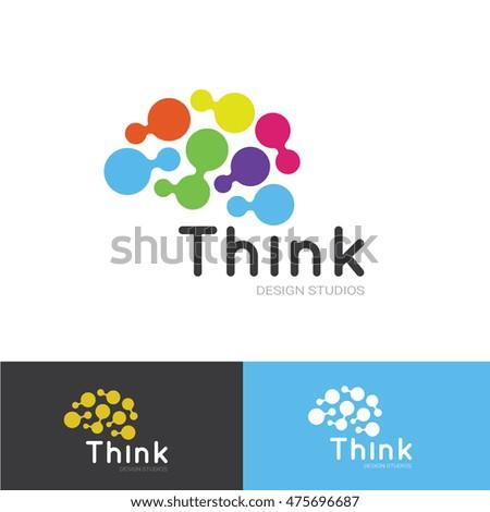 Think Idea Brain Logo Template Stock Vector 475696687 Shutterstock