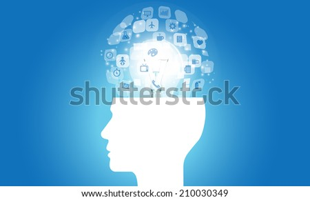 think idea background - stock vector