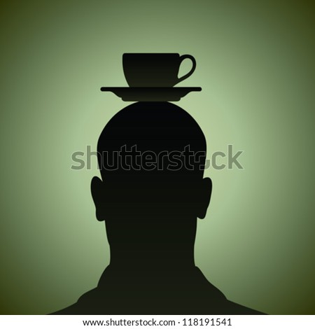 think of a cup of coffee - stock vector
