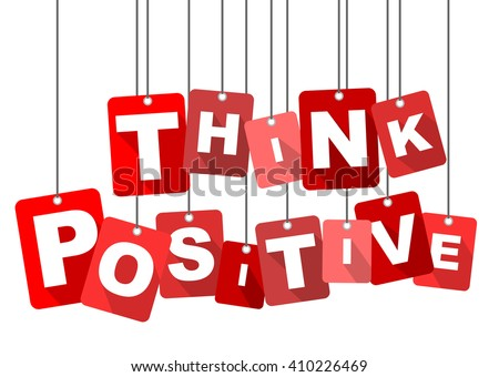 think positive, red vector think positive, red tag think positive, flat vector think positive, element think positive, sign think positive, design think positive, background think positive - stock vector