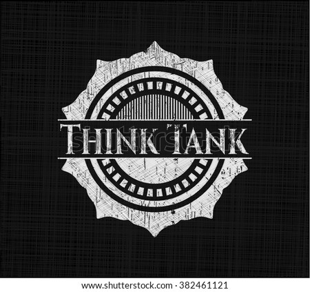 Think Tank with chalkboard texture - stock vector