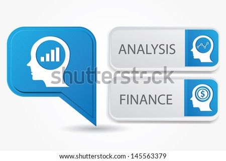 Thinking banner,version 4,vector - stock vector