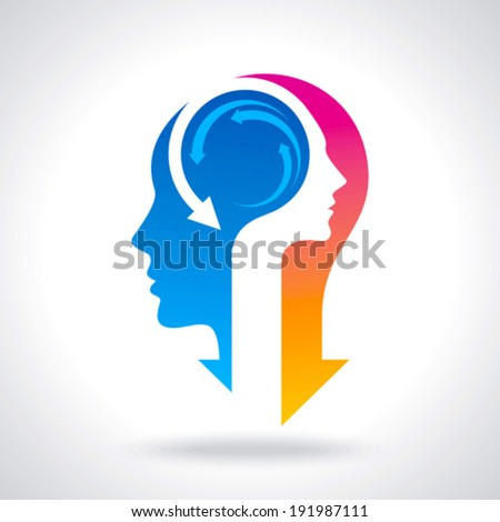 thinking business idea - stock vector