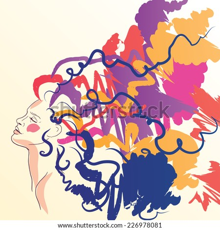 Art therapy stock images royalty free images vectors shutterstock thinking happy girl hand drawn woman in art mood art therapy banner vector toneelgroepblik Image collections