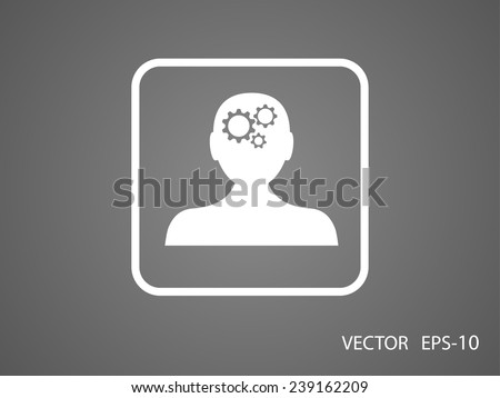 Thinking icon - stock vector