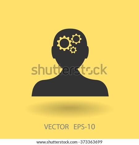 Thinking icon - stock vector