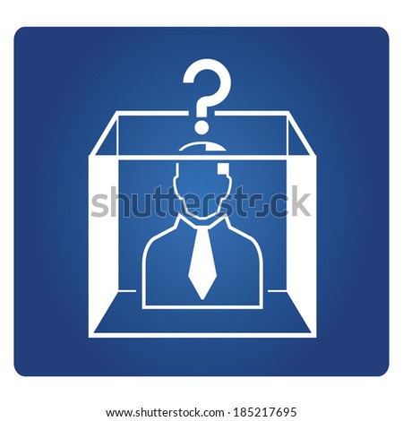 thinking in the box - stock vector