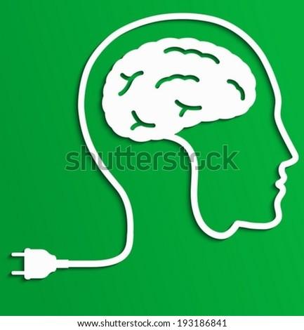 Thinking man, Creative brain Idea concept. - stock vector