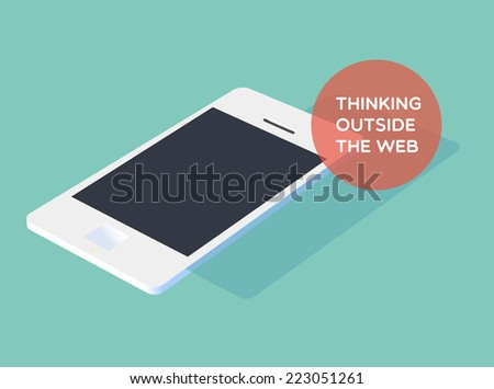 Thinking outside the web - stock vector
