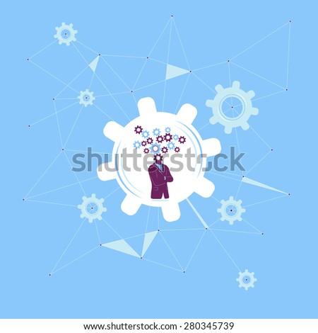 Thinking progress and growth - stock vector