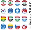 Third collection of flag buttons. - stock photo