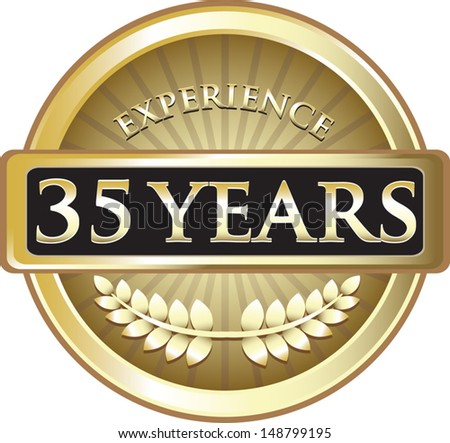 Thirty Five Years Experience Gold Award
