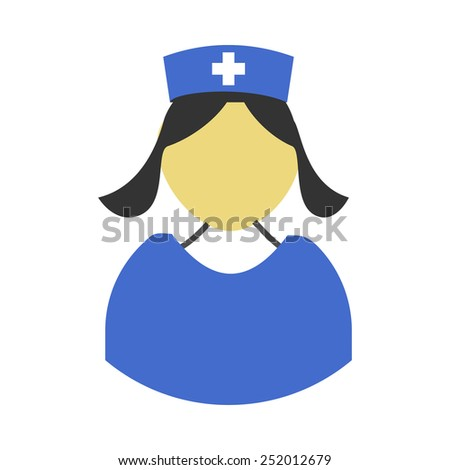 This icon represents nurse and is related to health care and medical category. It is recommended for use on websites, web applications and mobile applications.