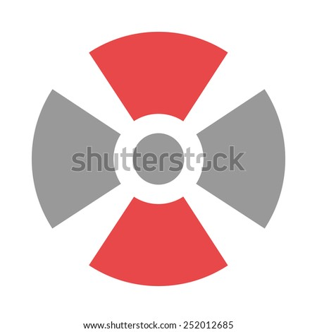 This icon represents radiation zone and is related to health care and medical category. It is recommended for use on websites, web applications and mobile applications. - stock vector