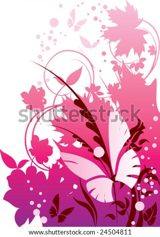 this illustration depicts beautiful plants - stock vector