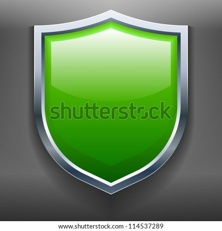 This illustration is a render of a Shield. - stock vector