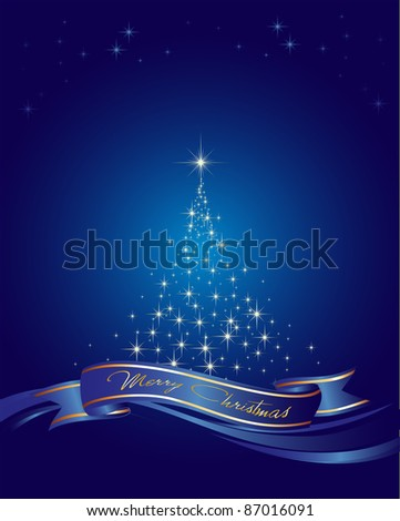 This image is a vector file representing a christmas holiday card, and all the elements can be scaled to any size without loss of resolution. - stock vector