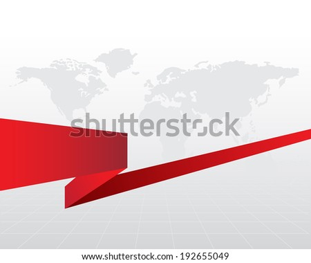 This image is a vector file representing a grey business background with a red ribbon./Business Background/Business Background - stock vector