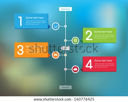This image is a vector file representing a Stream Timeline Feed. / Stream Timeline / Stream Timeline - stock vector