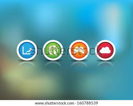 This image is a vector file representing a Technology Background Icons. / Technology Background Icons / Technology Background Icons - stock vector