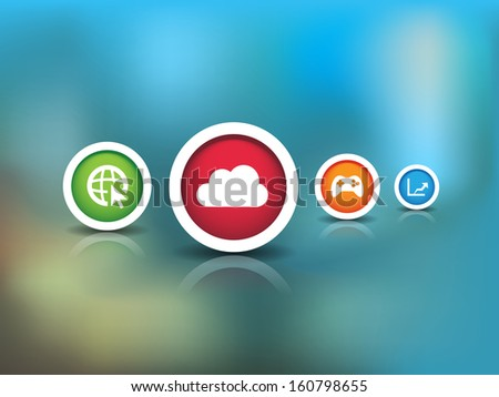 This image is a vector file representing a Technology Icons. / Technology Icons / Technology Icons - stock vector