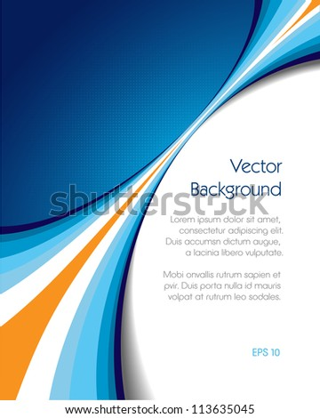 This image is an abstract background brochure cover. - stock vector