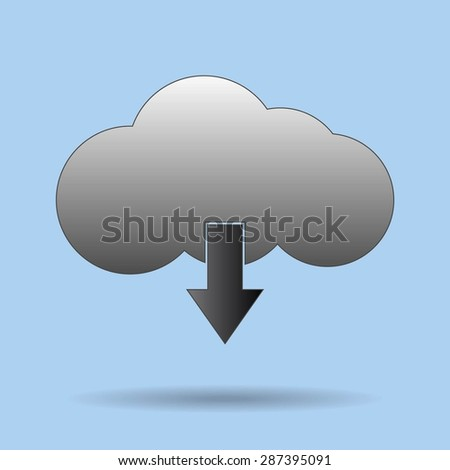 This image represents a cloud upload with app illustration. Cloud App - stock vector