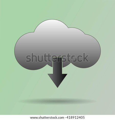 This image represents a cloud upload with apps illustration. Cloud Apps - stock vector