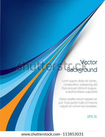 This image represents an abstract brochure background or cover./Brochure Background - stock vector